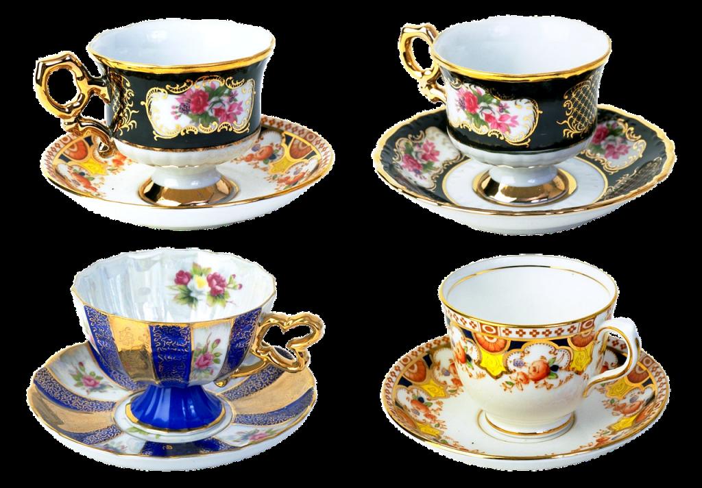 cup, saucer, porcelain